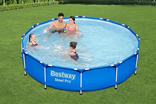Bestway Steel Pro Framepool ohne Pumpe, rund, 366 x 76 cm Pool, Blau - 8