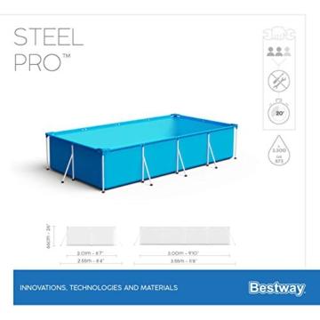 Bestway Steel Pro Framepool-Set, eckig, mit Filterpumpe 300 x 201 x 66 cm - 10