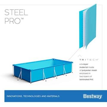 Bestway Steel Pro Framepool-Set, eckig, mit Filterpumpe 300 x 201 x 66 cm - 3
