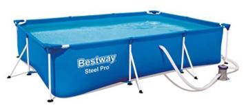Bestway Steel Pro Framepool-Set, eckig, mit Filterpumpe 300 x 201 x 66 cm - 5