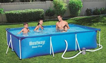 Bestway Steel Pro Framepool-Set, eckig, mit Filterpumpe 300 x 201 x 66 cm - 6