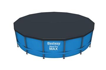 Bestway Steel Pro Max 457x122 cm, stabiler Frame Pool rund im Komplett Set, inklusive Filterpumpe, Sicherheitsleiter und PVC-Abdeckplane - 3