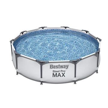 Bestway Steel Pro MAX Aufstellpool ohne Pumpe Ø 305 x 76 cm, grau, rund - 1