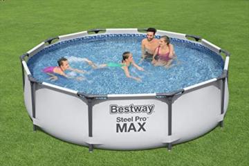 Bestway Steel Pro MAX Aufstellpool ohne Pumpe Ø 305 x 76 cm, grau, rund - 2