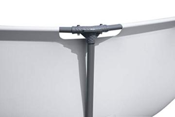 Bestway Steel Pro MAX Aufstellpool ohne Pumpe Ø 305 x 76 cm, grau, rund - 4