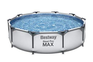 Bestway Steel Pro MAX Aufstellpool ohne Pumpe Ø 305 x 76 cm, grau, rund - 5