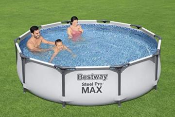 Bestway Steel Pro MAX Aufstellpool ohne Pumpe Ø 305 x 76 cm, grau, rund - 6