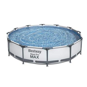 Bestway Steel Pro MAX Aufstellpool-Set mit Filterpumpe Ø 366 x 76 cm, grau, rund - 4