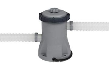 Bestway Steel Pro MAX Aufstellpool-Set mit Filterpumpe Ø 366 x 76 cm, grau, rund - 5