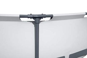 Bestway Steel Pro MAX Aufstellpool-Set mit Filterpumpe Ø 366 x 76 cm, grau, rund - 7