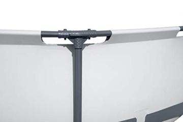 Bestway Steel Pro MAX Aufstellpool-Set mit Filterpumpe Ø 366 x 76 cm, grau, rund - 8