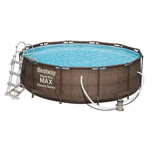Bestway Steel Pro Max Frame Pool Komplettset Deluxe, rund, Rattan-Optik, 366 x 100 cm - 2