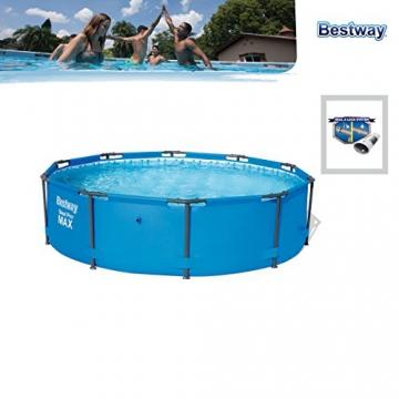 Bestway Steel Pro MAX, Frame Pool rund mit stabilem Stahlrahmen, 305x305x76 cm - 5