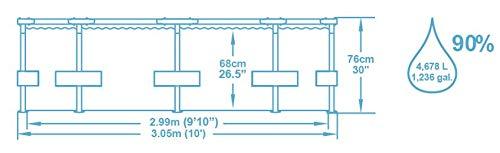 Bestway Steel Pro MAX, Frame Pool rund mit stabilem Stahlrahmen, 305x305x76 cm - 7