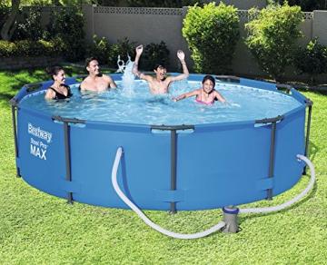 Bestway Steel Pro MAX, Frame Pool rund mit Stahlrahmen und Filterpumpe, 305x305x76 cm - 3
