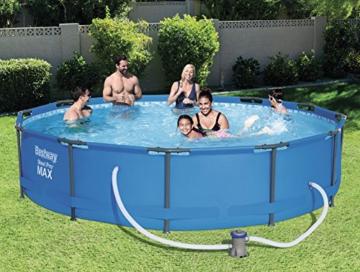 Bestway Steel Pro MAX Frame Pool, rund mit Stahlrahmen und Filterpumpe, 366 x 76 cm - 2