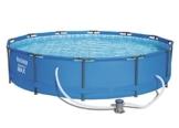 Bestway Steel Pro MAX Frame Pool, rund mit Stahlrahmen und Filterpumpe, 366 x 76 cm - 1