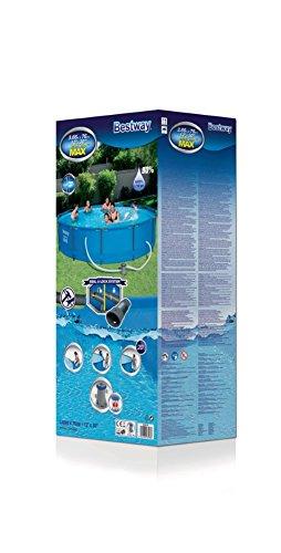 Bestway Steel Pro MAX Frame Pool, rund mit Stahlrahmen und Filterpumpe, 366 x 76 cm - 4