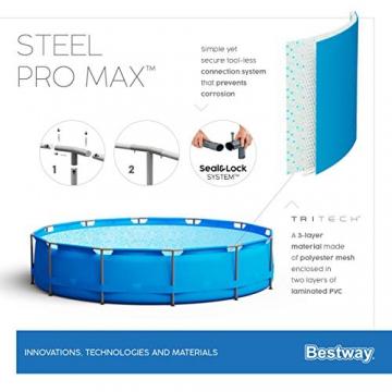 Bestway Steel Pro Max Framepool-Set, rund, mit Filterpumpe 427 x 84 cm - 9