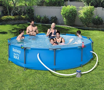 Bestway Steel Pro Max Pool Set 366x76 cm, Frame Pool rund im Set, inklusive Filterpumpe und Getränkehaltern - 2