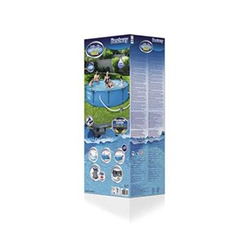 Bestway Steel Pro Max Pool Set 366x76 cm, Frame Pool rund im Set, inklusive Filterpumpe und Getränkehaltern - 3