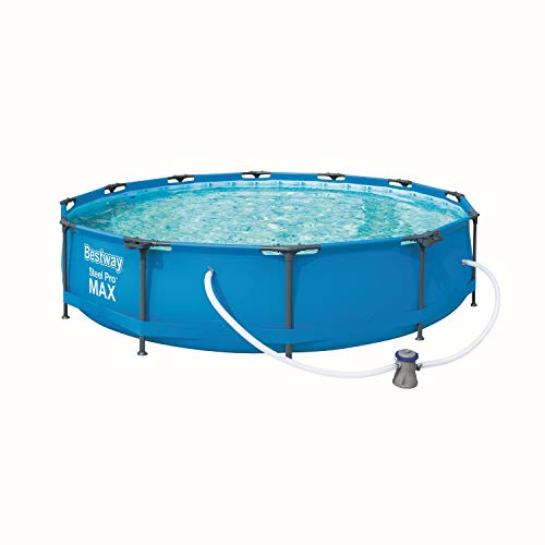 Bestway Steel Pro Max Pool Set 366x76 cm, Frame Pool rund im Set, inklusive Filterpumpe und Getränkehaltern - 4