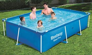 Bestway Steel Pro rechteckiger Kinderpool, mit stabilem Stahlrahmen, 259 x 170 x 61 cm - 3