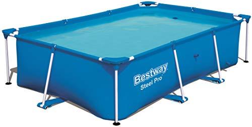 Bestway Steel Pro rechteckiger Kinderpool, mit stabilem Stahlrahmen, 259 x 170 x 61 cm - 1