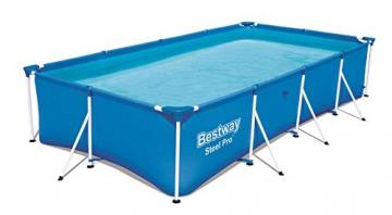 Bestway Steel Pro rechteckiger Kinderpool, mit stabilem Stahlrahmen, 400 x 211 x 81 cm - 1