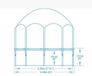 Bestway Steel Pro UV Careful, runder Kinderpool mit Sonnenschutzdach, 244x244x51cm - 6