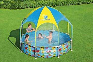 Bestway Steel Pro UV Careful Stahlrahmenpool ohne Pumpe mit Sonnenschutzdach Splash-in-Shade 244 x 51 cm Pool, multi - 2