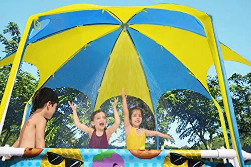Bestway Steel Pro UV Careful Stahlrahmenpool ohne Pumpe mit Sonnenschutzdach Splash-in-Shade 244 x 51 cm Pool, multi - 14