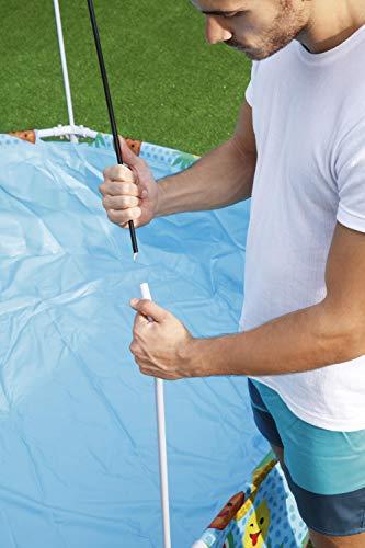 Bestway Steel Pro UV Careful Stahlrahmenpool ohne Pumpe mit Sonnenschutzdach Splash-in-Shade 244 x 51 cm Pool, multi - 9