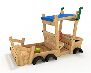 bibex Sandkasten Auto - LKW - Sandkiste - Spielhaus - Buddelbox Blau - 1