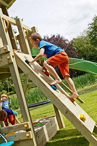 Blue Rabbit 2.0 Spielturm BEACH HUT mit Rutsche 2,30 m oder 2,90 m inkl. Wasseranschluss, Kletterwand mit Klettersteinen, Doppelschaukel - Kletterturm, Stelzenhaus - 6
