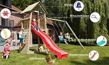 Blue Rabbit 2.0 Spielturm BELVEDERE mit Rutsche 2,30 m oder 2,90 m inkl. Wasseranschluss - 3