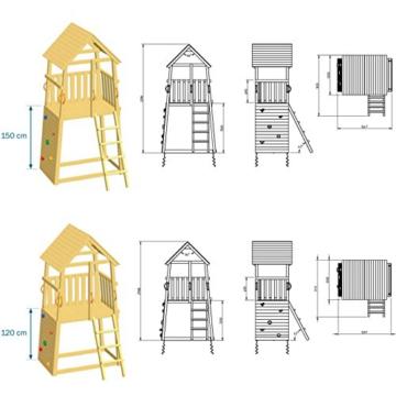 Blue Rabbit 2.0 Spielturm BELVEDERE mit Rutsche 2,30 m oder 2,90 m inkl. Wasseranschluss - 4