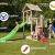 Blue Rabbit 2.0 Spielturm Penthouse mit Rutsche 2,90 m + Babyrutsche + Kletternetz Farbe Grün - 2