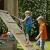 Blue Rabbit Spielturm Beach Hut mit Rutsche + Rampe mit Seil Kletterturm Holzturm Stelzenhaus mit Wasserrutsche, Fernrohr und Kletterrampe mit Seil (Podesthöhe 1,20 m, Grün) - 5