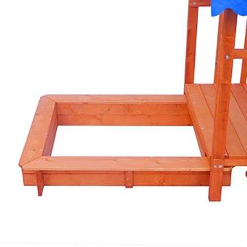 BRAST Sandkasten verstellbares Dach Sandkiste Spielhaus Sitzbänke Holz Pavillon - 6