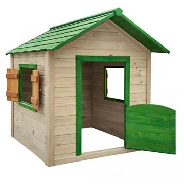 BRAST Spielhaus für Kinder 106 x111x132cm Tannenholz 12mm Kinderspielhaus Stelzenhaus Garten Baum Turm Holzhaus - 2