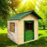 BRAST Spielhaus für Kinder 106 x111x132cm Tannenholz 12mm Kinderspielhaus Stelzenhaus Garten Baum Turm Holzhaus - 1