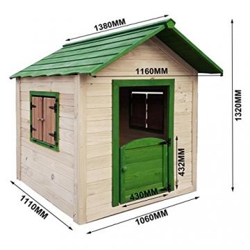BRAST Spielhaus für Kinder 106 x111x132cm Tannenholz 12mm Kinderspielhaus Stelzenhaus Garten Baum Turm Holzhaus - 3
