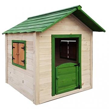 BRAST Spielhaus für Kinder 106 x111x132cm Tannenholz 12mm Kinderspielhaus Stelzenhaus Garten Baum Turm Holzhaus - 4