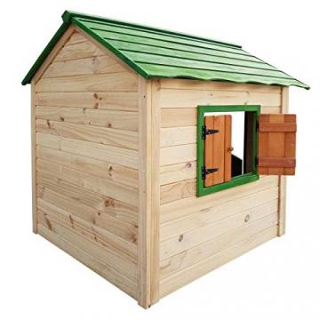 BRAST Spielhaus für Kinder 106 x111x132cm Tannenholz 12mm Kinderspielhaus Stelzenhaus Garten Baum Turm Holzhaus - 6