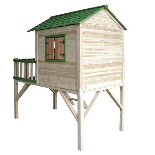 """BRAST Spielhaus für Kinder mit Balkon Stelzenhaus""""Adventure"""" 167x191x216cm Kinder-Haus Turm Holz Spielehaus - 3"""
