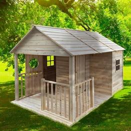 """BRAST Spielhaus""""Cottage"""" für Kinder 274x183x170cm Tannenholz 12mm Kinder-Haus Spielehaus Garten Holzhaus - 1"""