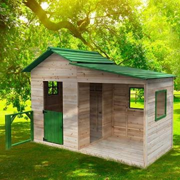 """BRAST Spielhaus""""Gartenlaube"""" für Kinder 3qm 244x124x174cm Tannenholz 12mm Kinder-Haus Spielehaus Garten Holz-Haus - 1"""