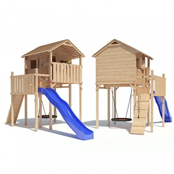 Domizilio Spielturm Kletterturm Baumhaus Rutsche Schaukeln (ohne Schaukelanbau) -