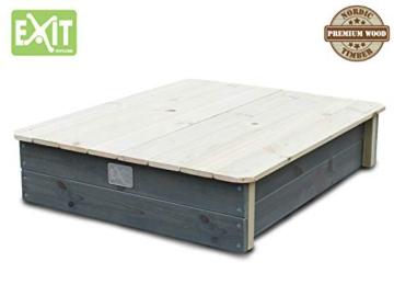 EXIT Aksent Sandkasten mit Deckel / Material: Nordische Fichte / Maße: 94 x 77 x 20 cm / Gewicht: 16 kg - 3